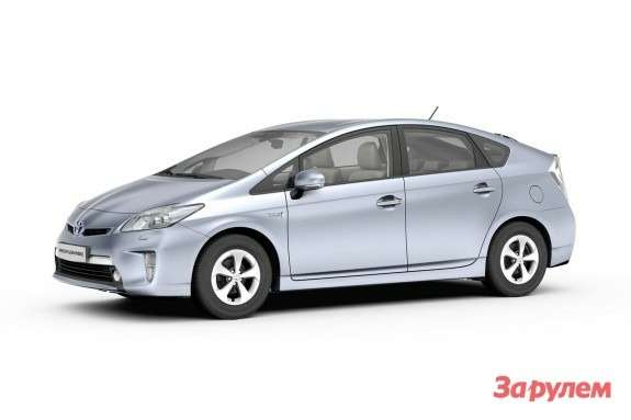 Toyota Prius PHEV side-front view