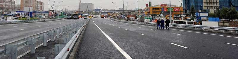 Подрядчики задерживают реконструкцию вылетных магистралей Москвы