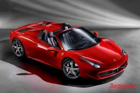 Ferrari 458 Spider side-front view