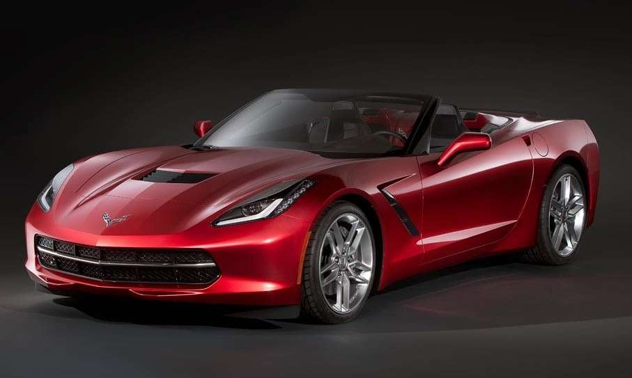 NewChevrolet Corvette Convertible side-front view_no_copyright