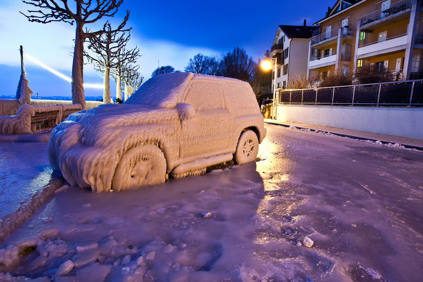 IceCovered Car