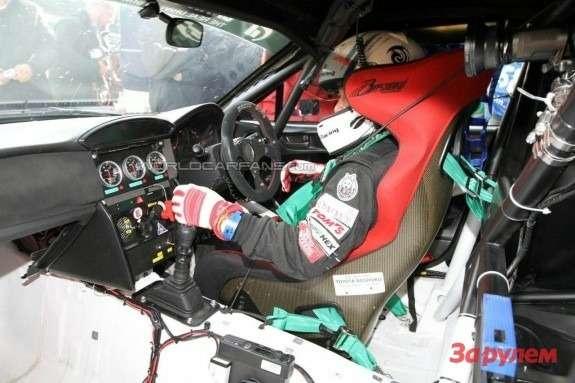 Toyota FT-86 race car inside