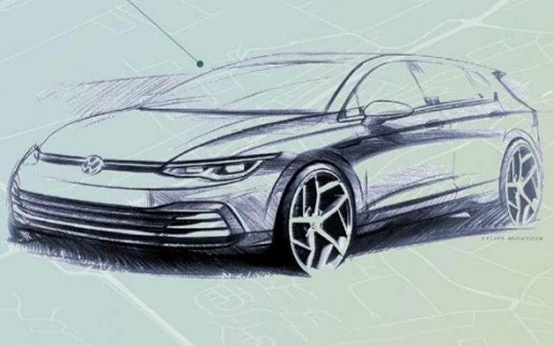 Появились два рисунка нового VWGolf. Это будет красиво!