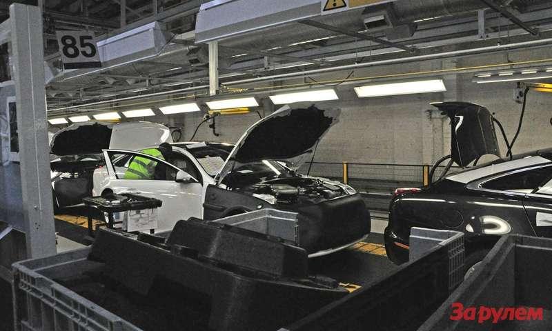 Автомобиль упакован взащитные маты