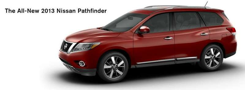 New Nissan Pathfinder side-front view