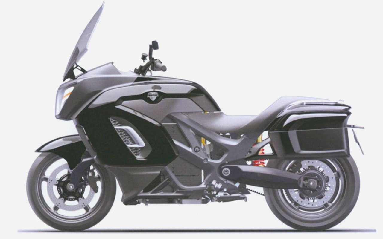 В России запатентовали дизайн мотоцикла Aurus— фото 1160149
