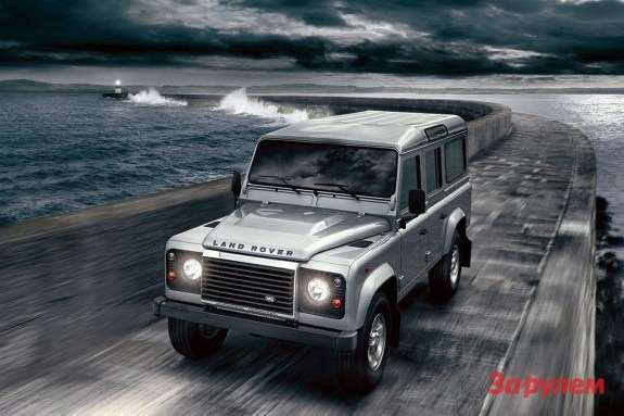 Land Rover Defender 110 side-front view