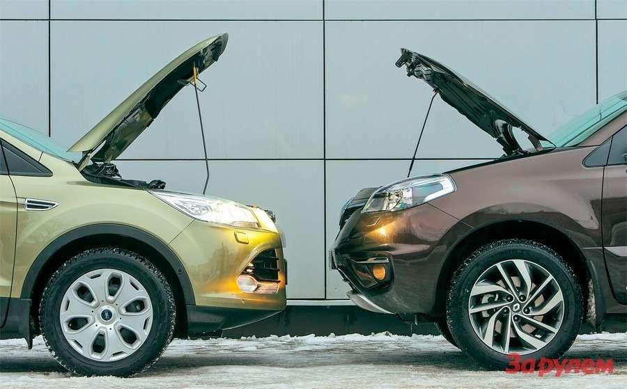 Renault Koleos 2,5vs Ford Kuga 1,6: реальный расход— фото 260655