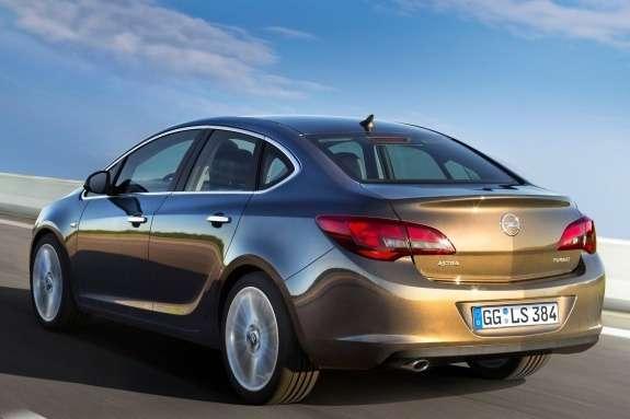 Opel Astra Sedan side-rear view
