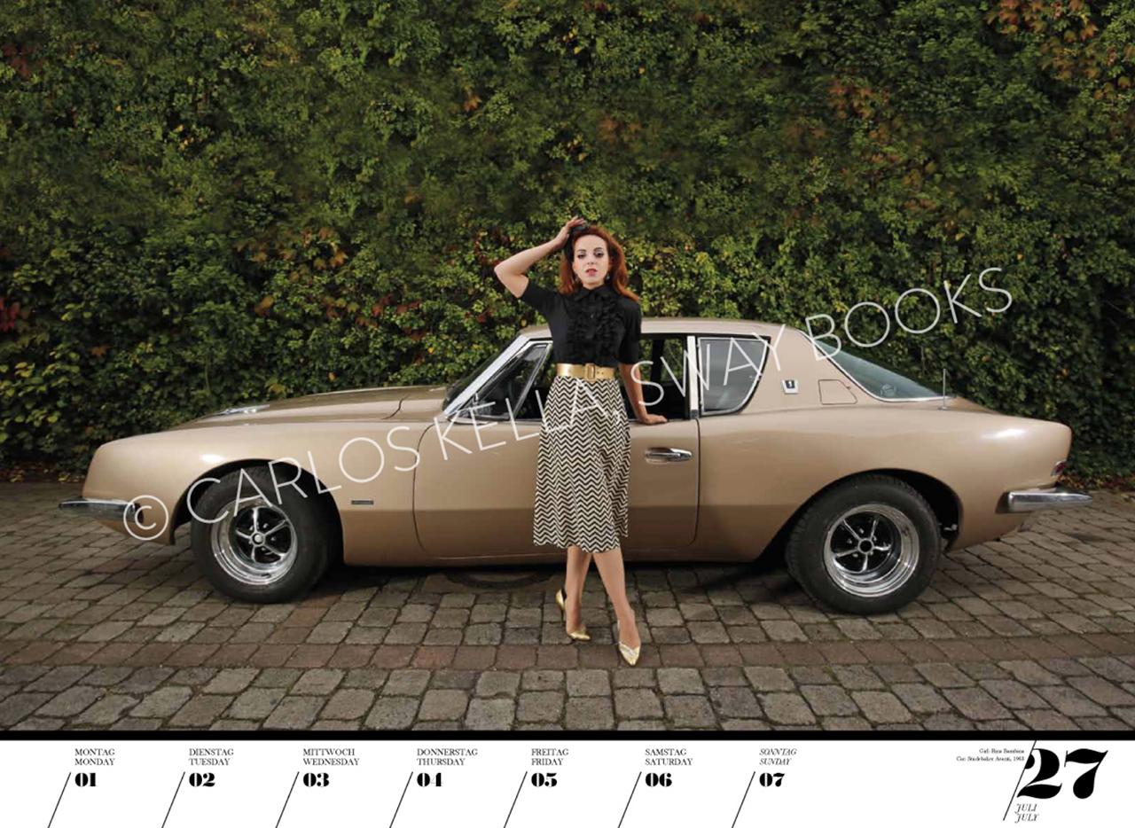 Очаровательные красотки иамериканские автомобили. Календарь 2019— фото 904621