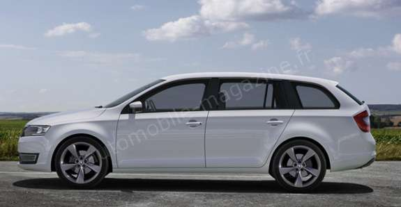 Next Skoda Fabia Combi rendering by L'Automibile side view
