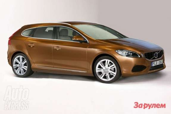 Volvo V30 rendering by Autocar side-front view