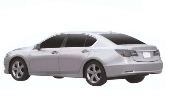 Acura RLX patent image side-rear view