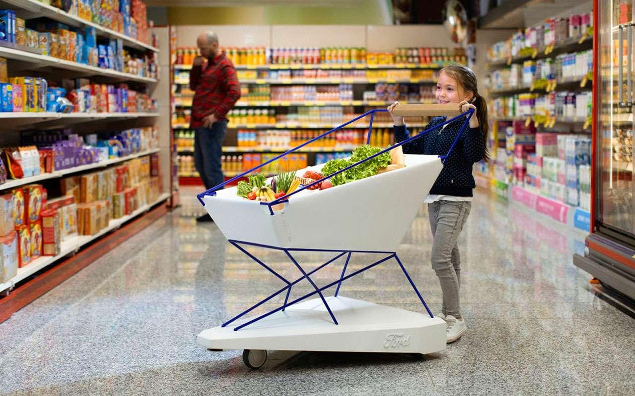 Форд заехал всупермаркеты: теперь онизобретает тележки!— фото 969736