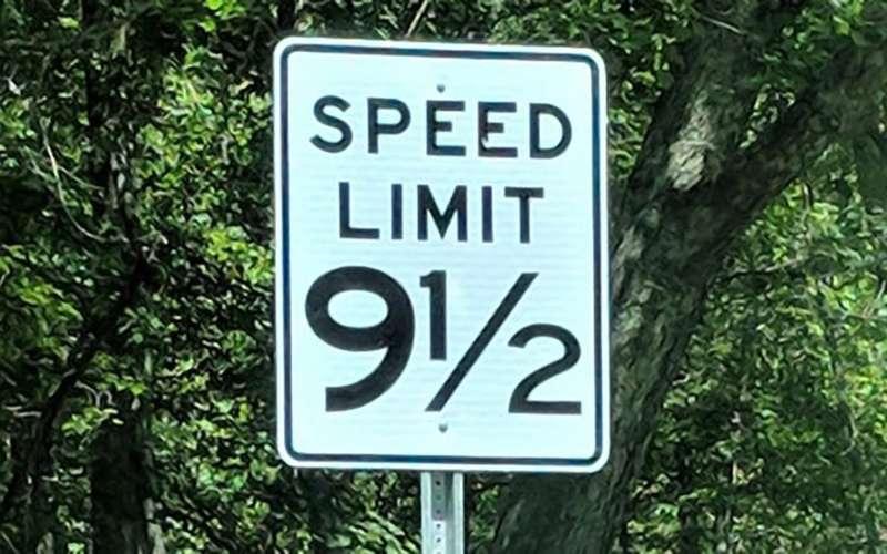 Ограничение скорости в9,5? Нефейк!