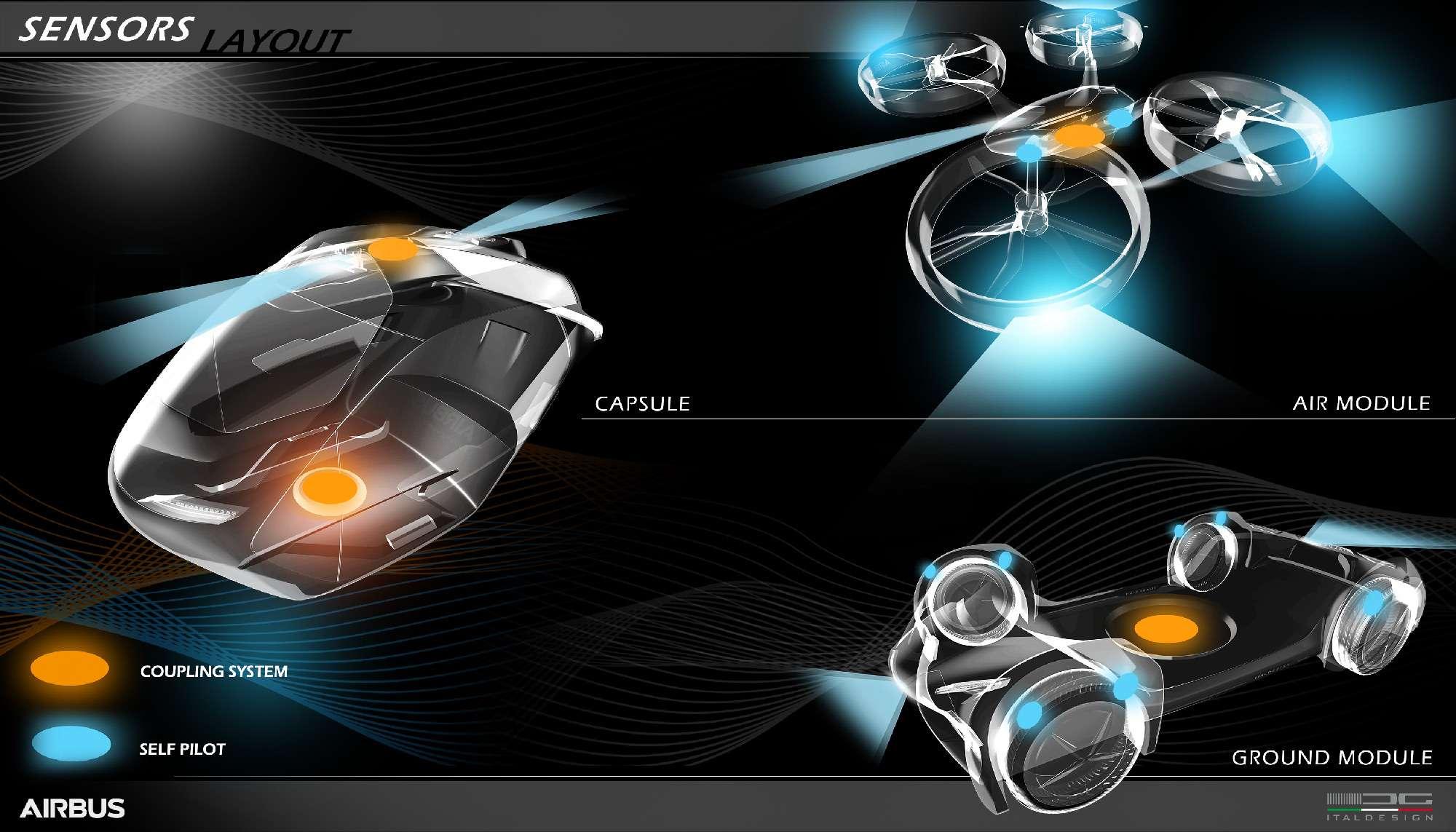 Разделяй илетай: Italdesign иAirbus создали модульный аэромобиль— фото 719946