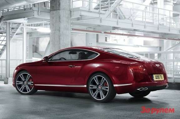 Bentley Continental GTV8side-rear view
