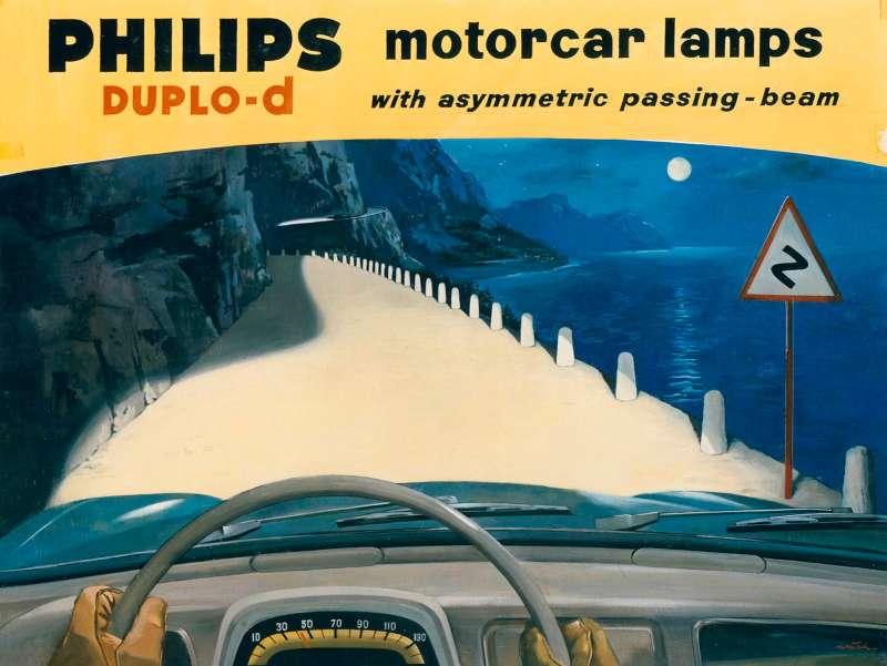 G626, Autolampen Duplo-d, reclame, Engelstalig, campagne, 1959,