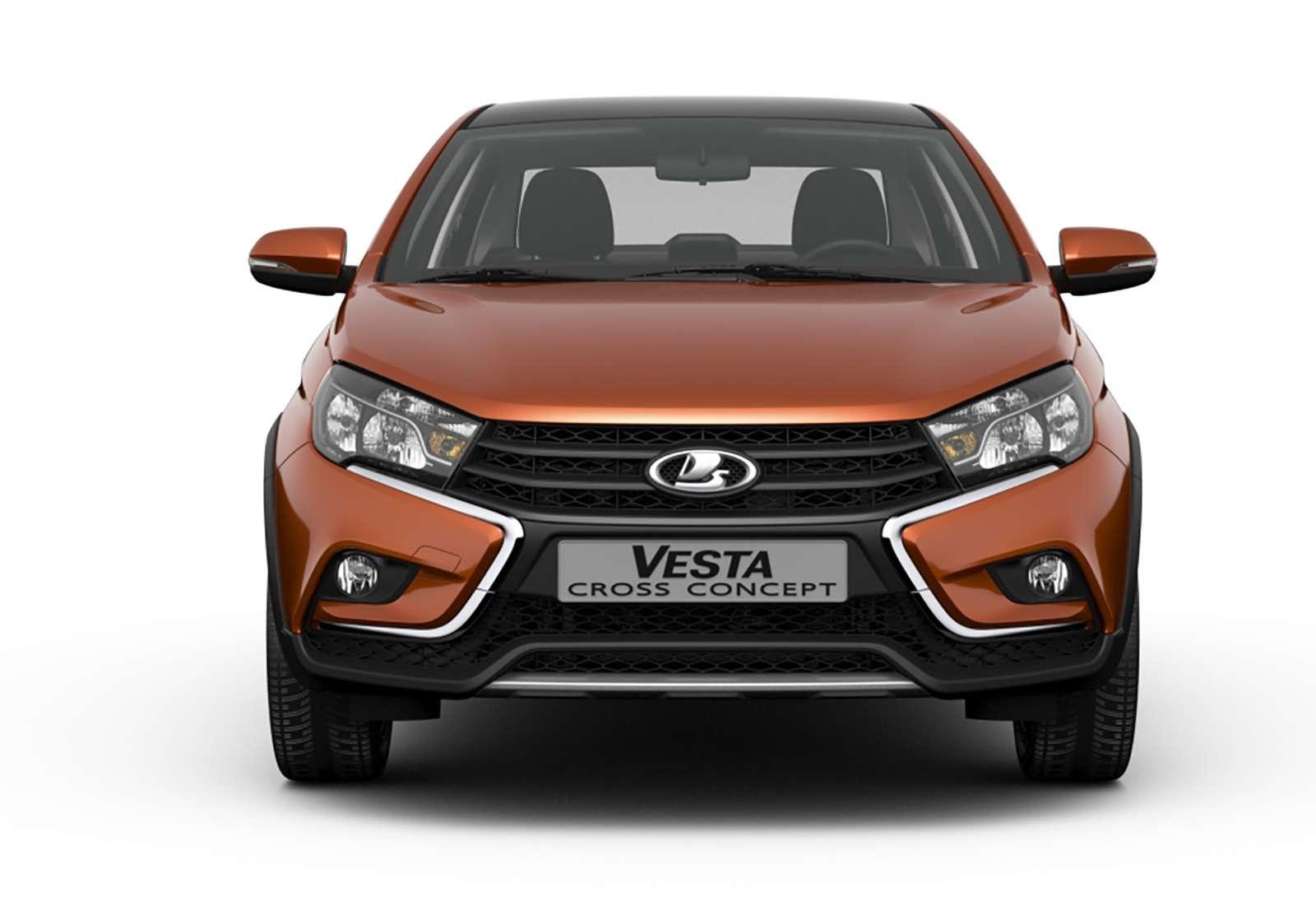 Седан Lada Vesta Cross получит внедорожный клиренс— фото 811058