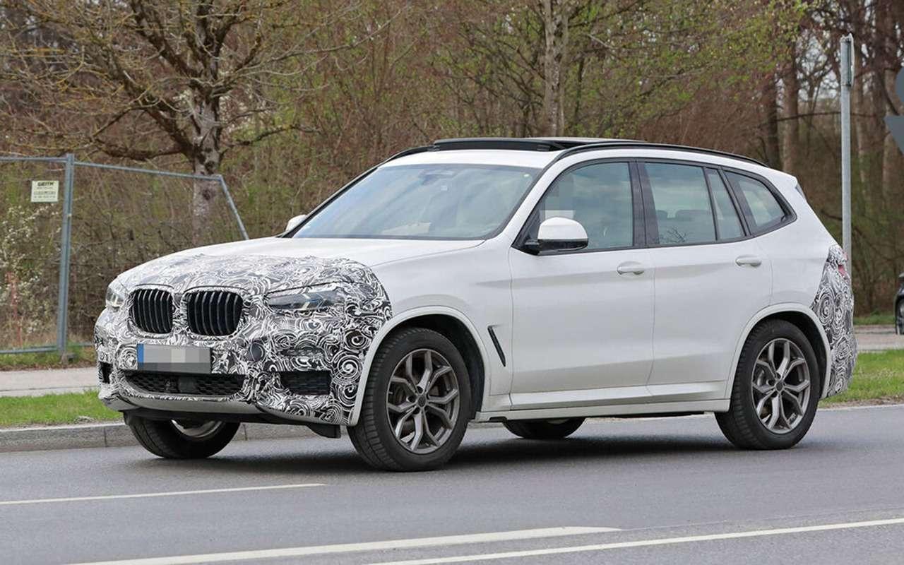 Обновленный BMW X3выехал натесты— фото 1246527