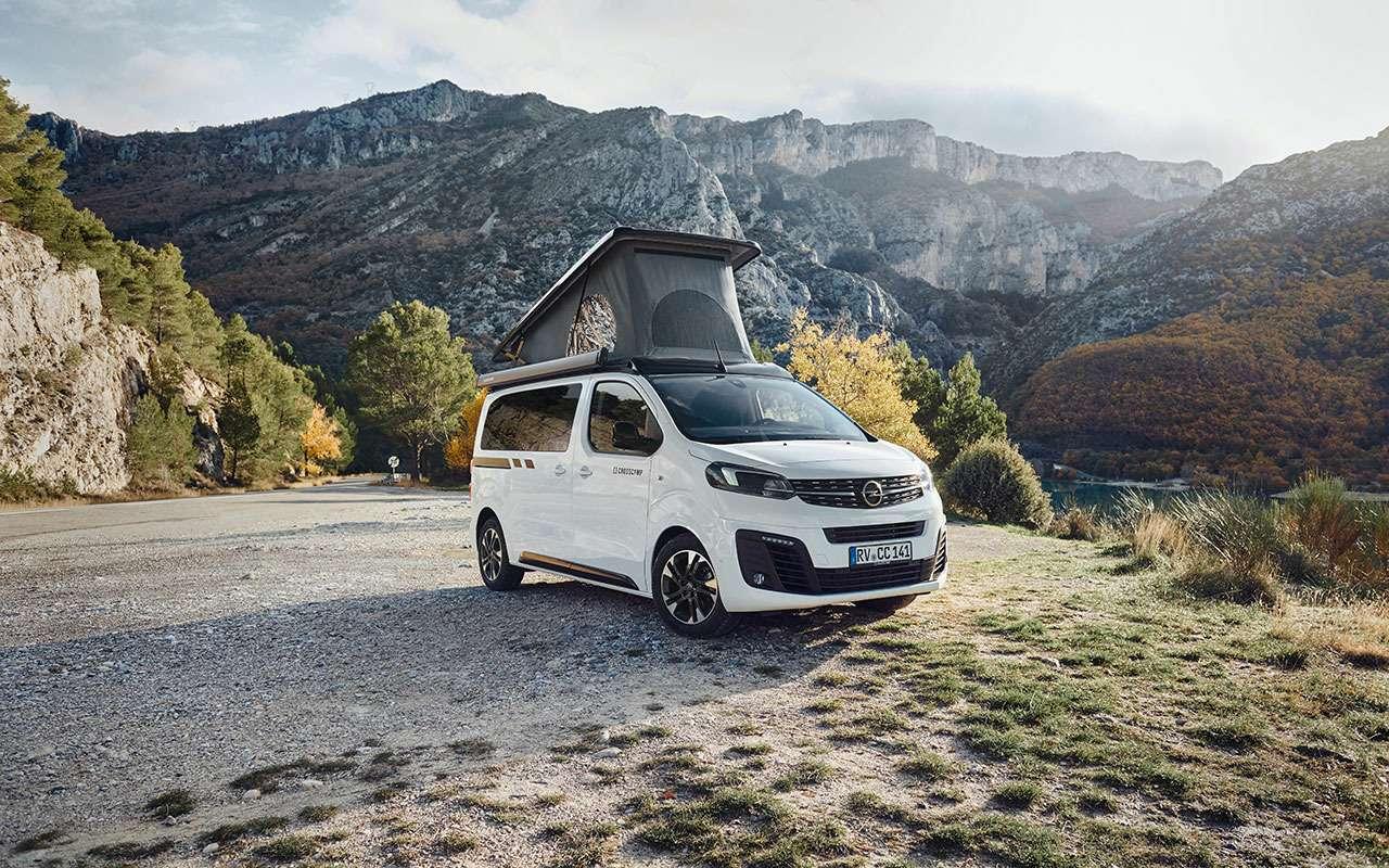 Премьера— весной: минивэн Opel превращается вкомпактный автодом— фото 1059675