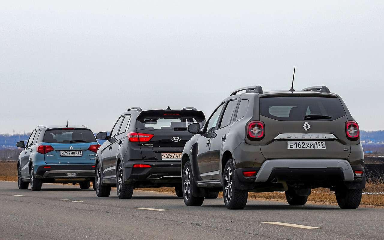 Renault Duster, Hyundai Creta, Suzuki Vitara: чей полный привод лучше— фото 1246333