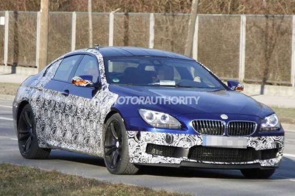 BMW M6 Gran Coupe test prototype side-front view