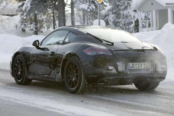 Porsche Cayman test prototype side-rear view