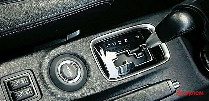 Подрычагом вариатора «Аутлендера»— кнопка управления режимами полного привода.