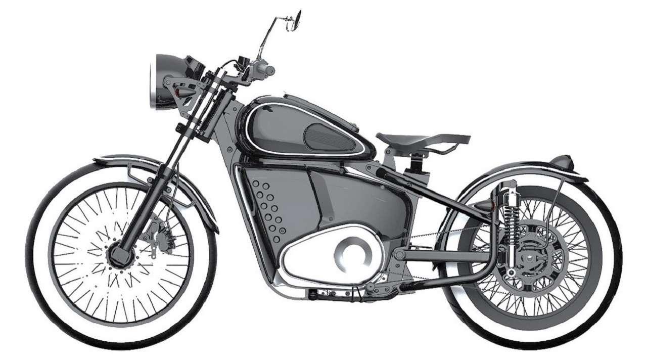 «Калашников» запатентовал электробайк встиле Иж-49— фото 1250966