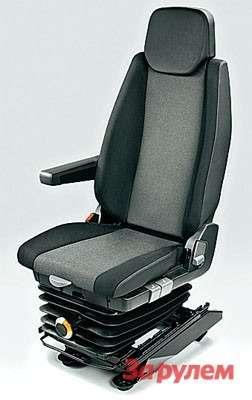 В качестве дополнительного оборудования предлагают подрессоренное сиденье срегулировкой взависимости отвеса водителя.