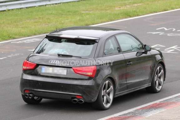 Audi S1 test prototype side-rear view