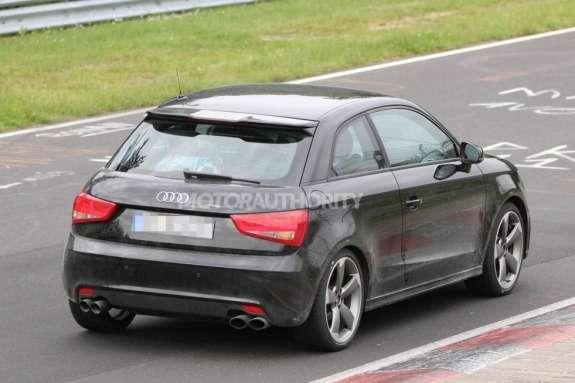 Audi S1test prototype side-rear view