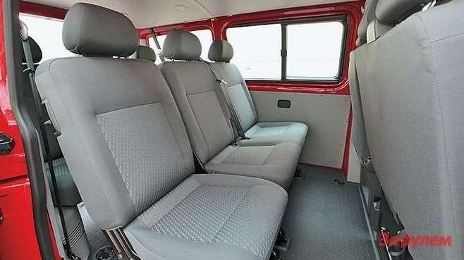 Сиденья пассажирских версий,как правило, регулируются независимо