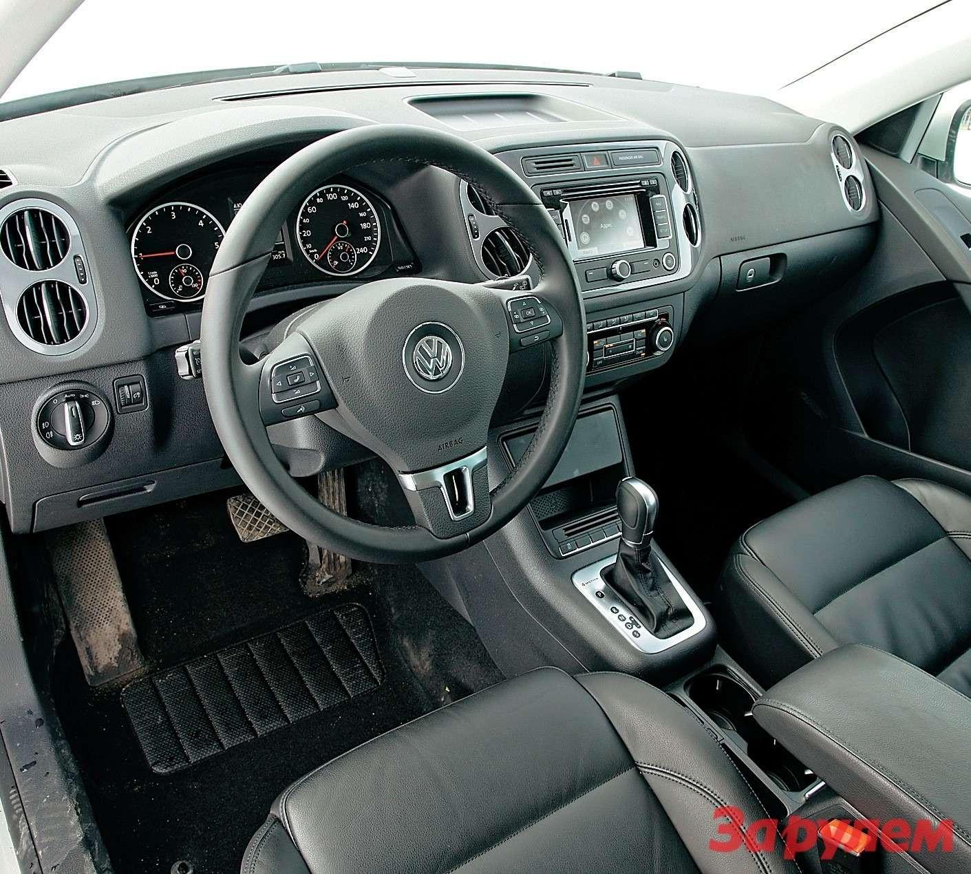 Садясь в«Тигуан», попадаешь всамый обычный легковой автомобиль, продуманный иудобный, как… «Фольксваген».