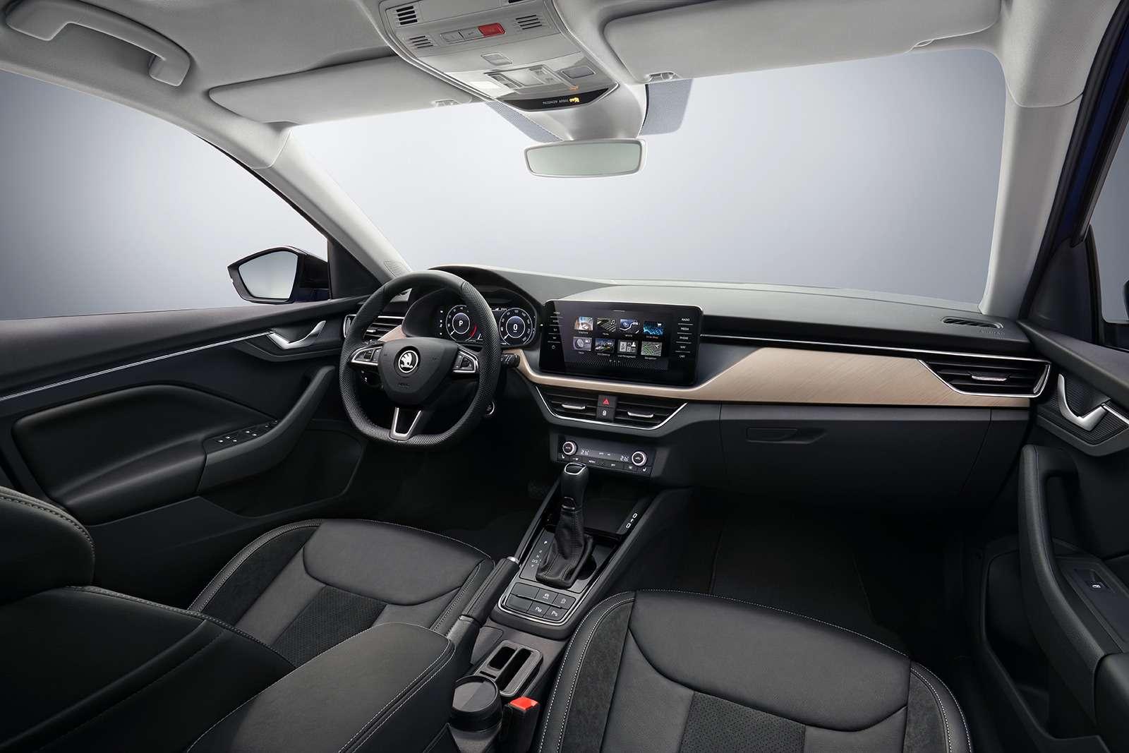 Skoda рассекретила интерьер своей новой модели— фото 927219