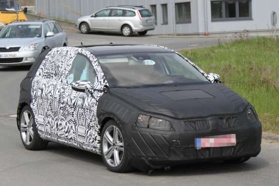 Volkswagen Golf GTI test prototype side-front view