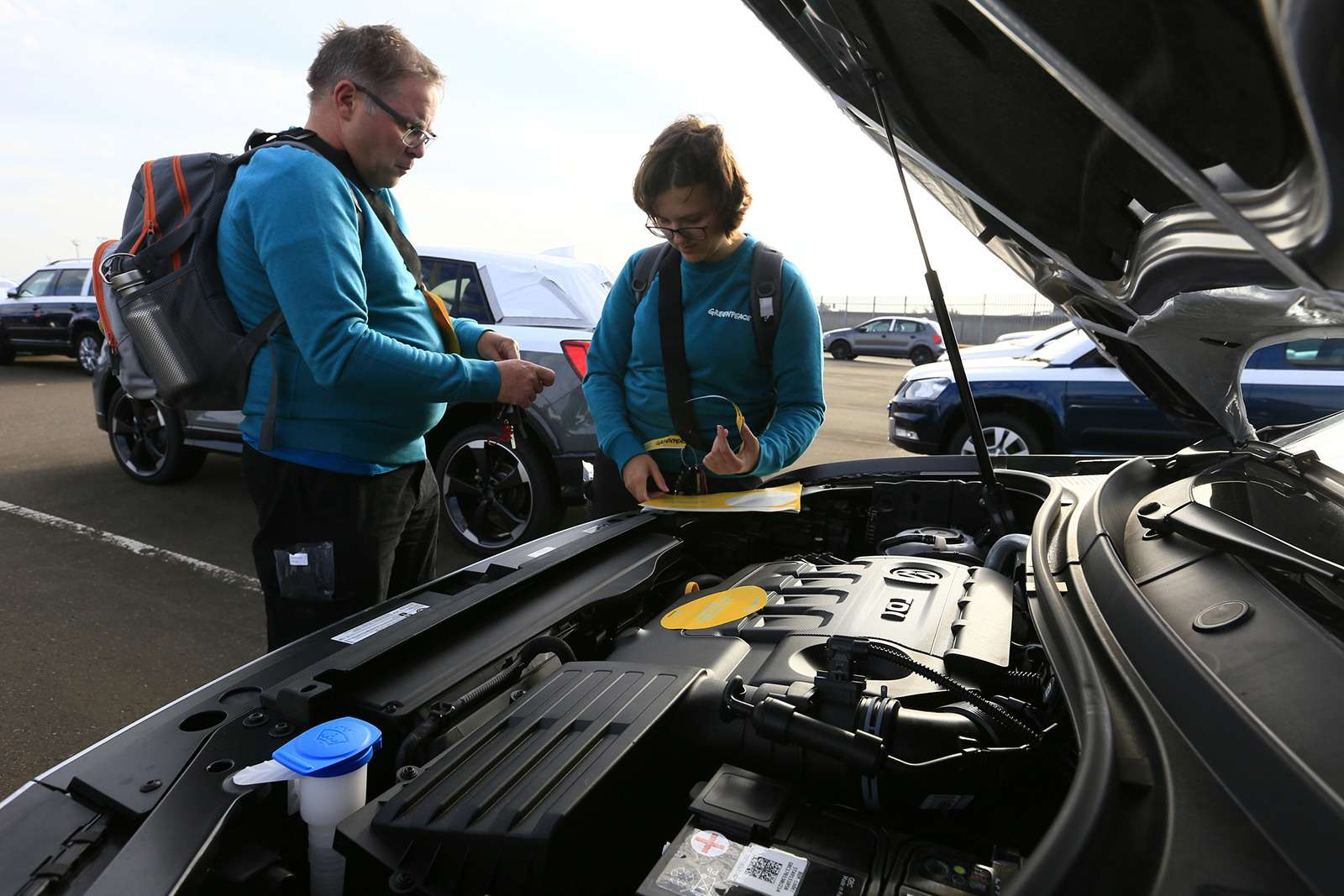 «Гринпис» не пускает дизельные Volkswagen вВеликобританию— фото 797313