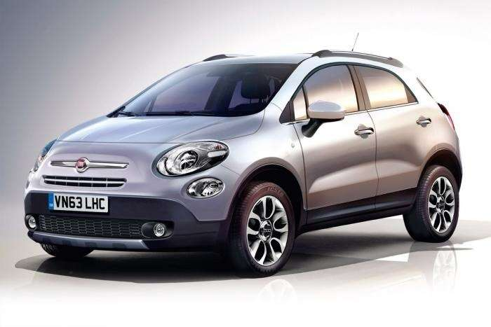 Fiat 500X rendering by Auto Express side-front view_no_copyright