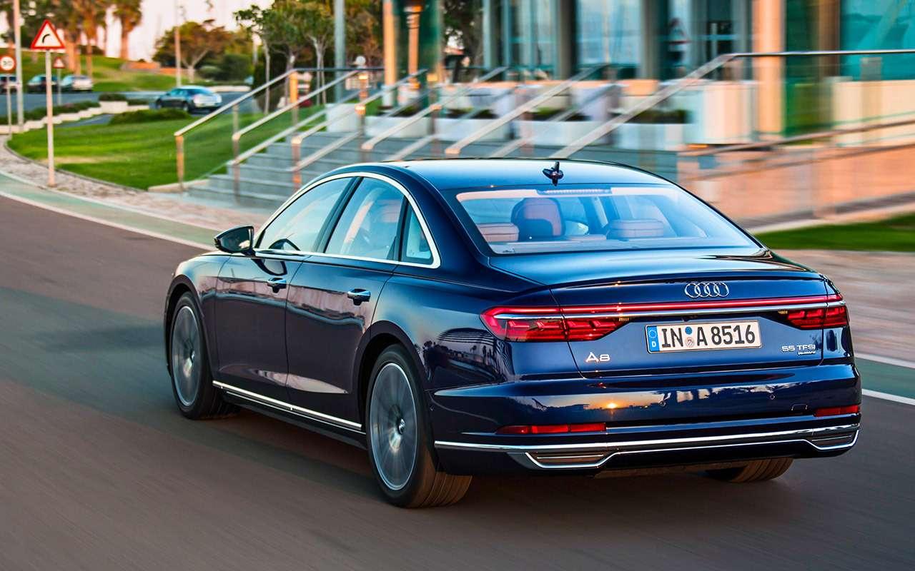 Новый Audi A8: репортаж сзаднего сиденья— фото 823837