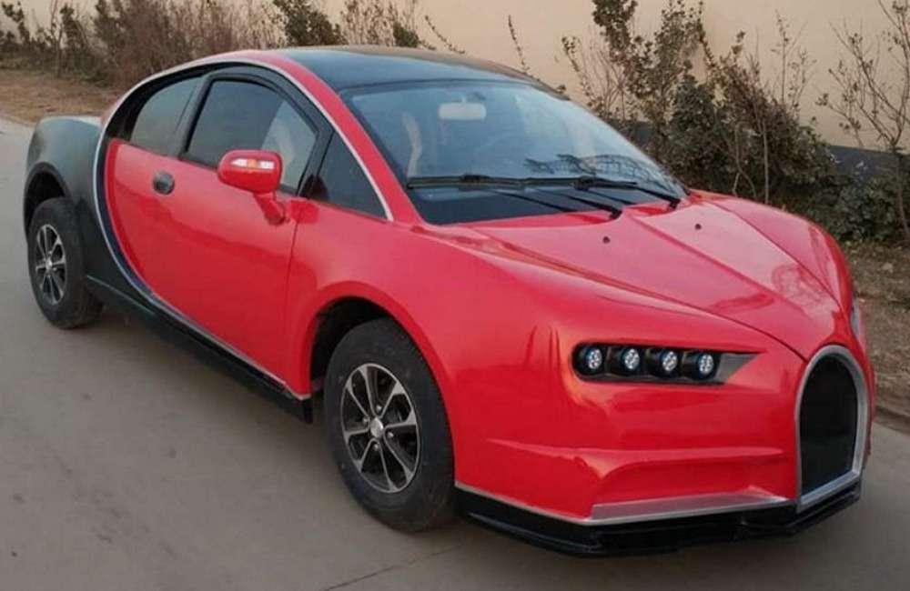 Китайская копия Bugatti Chiron. Всего 5000 баксов, нос3,35-сильным мотором— фото 870420