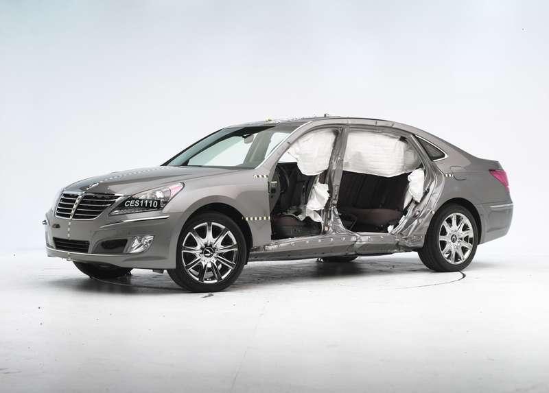 Hyundai Equus получил хорошие оценки забезопасность