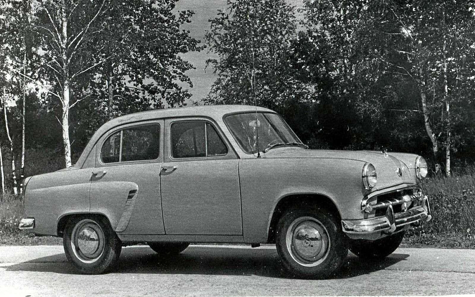 Первая ласточка: Москвич-402на фоне эпохи— фото 605098