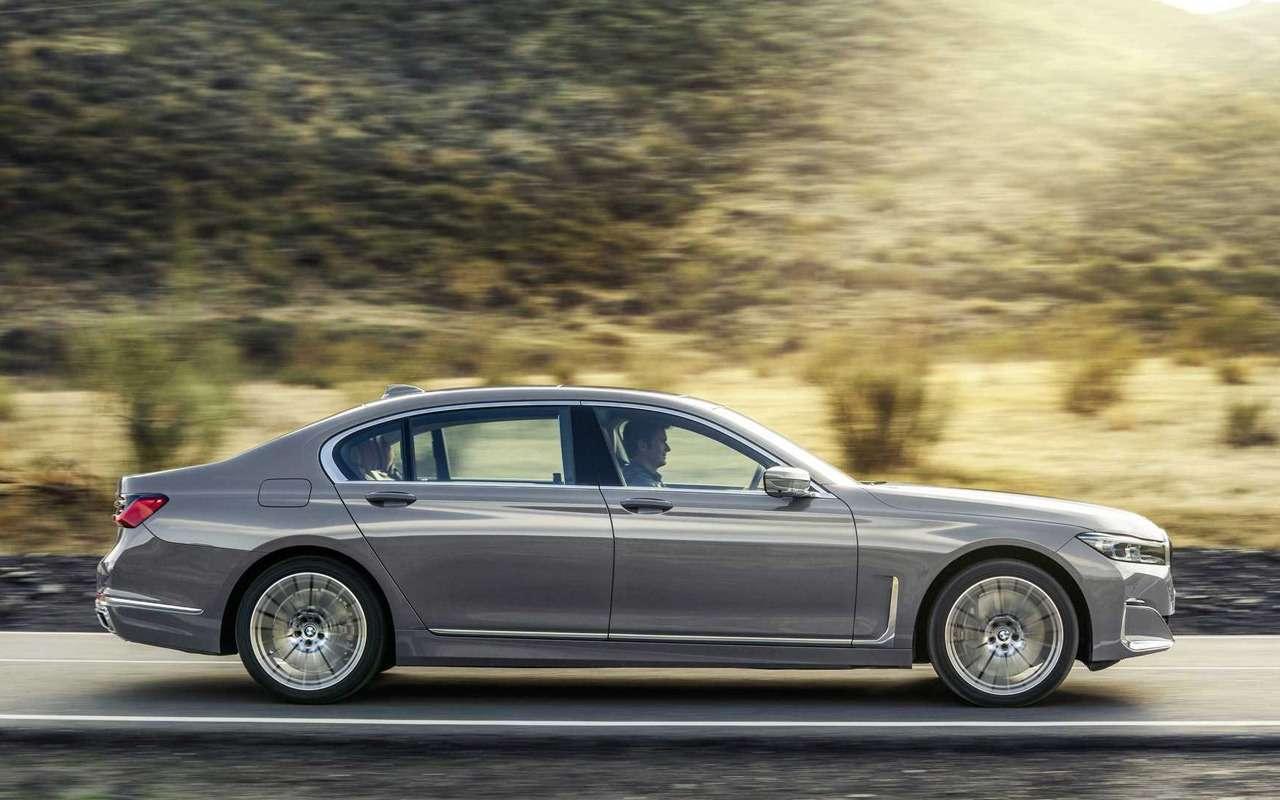Обновленная «семерка» BMW: огромные ноздри ифары как уX7— фото 940657