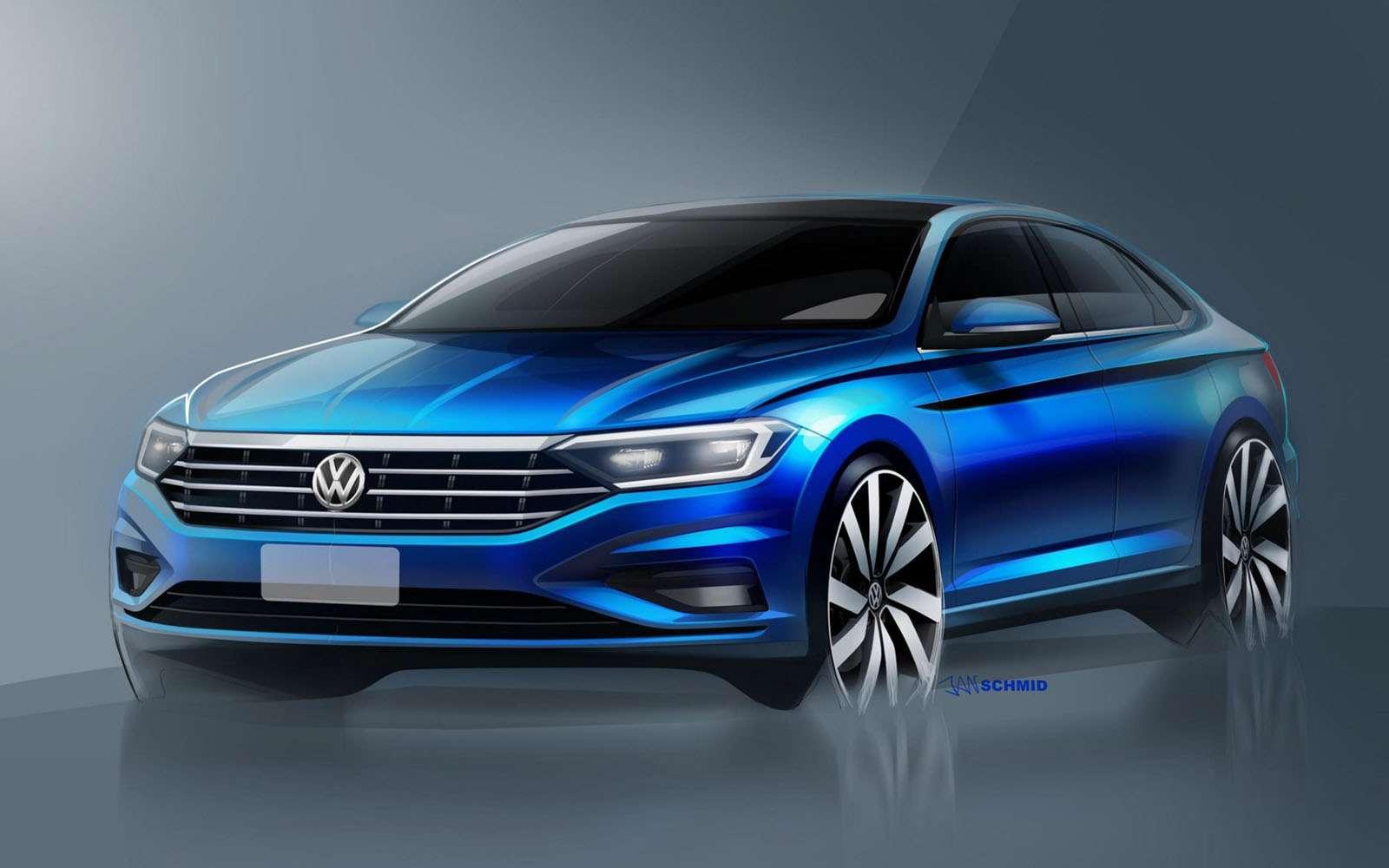 Новый Volkswagen Jetta: рассекречены дизайн иинтерьер— фото 825931