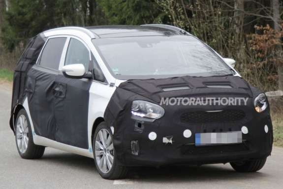 NewKia MPV test prototype side-front view