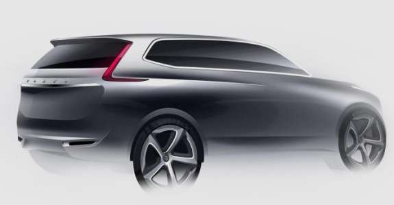 New Volvo XC90 sketch 1