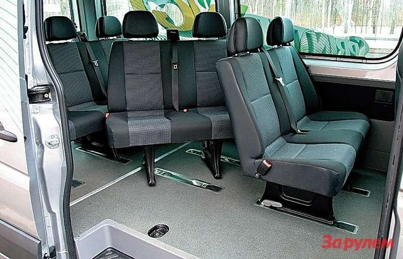 Вынуть сиденья ипревратить салон вгрузовой фургон— дело нескольких минут.