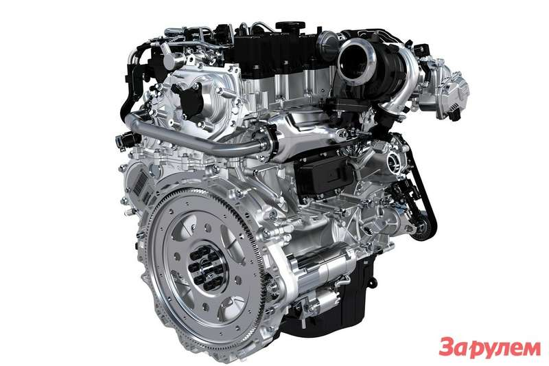 Четырехцилиндровый мотор компании Jaguar Land Rover новой серии Ingenium