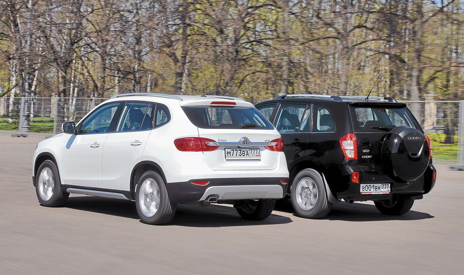 Chery Tiggo и Brilliance V5